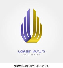 Logo Business abstract vector design template, Hi tech logotype, Corporation, Building, Aviation, Vector Eps 10