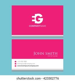 EG Logo | Business Card Template |