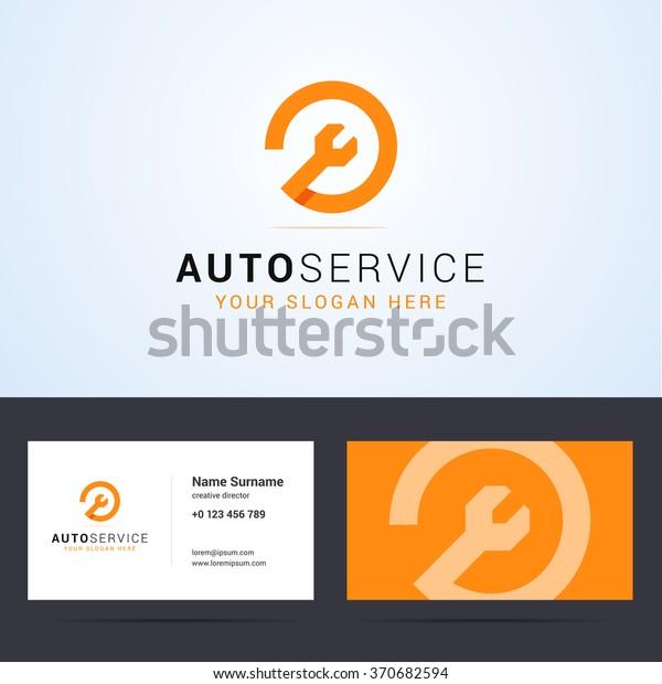 Logo Und Visitenkarten Vorlage Layout Für Stock