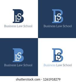 Logo Business Law School brand label icon vector illustration