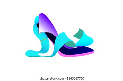 logo Business women, Shoe tie. Abstract Creative biz girl concept, vector icon of for Web and Mobile Applications isolated. Vector illustration template design, Business infographic and social media.
