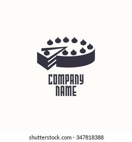 logo cake. Vector design logo. Logo for bakery shop. Vector illustration
