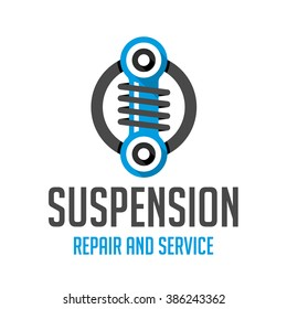 Logo car tuning pattern. Icon for car air suspension.
