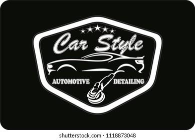 logo cars detailing b&w