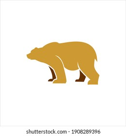 Logo cartoon bear simple animal vector for nature and wildlife graphic element template