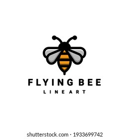 logo cartoon is created in the style of line art which forms the Bee
