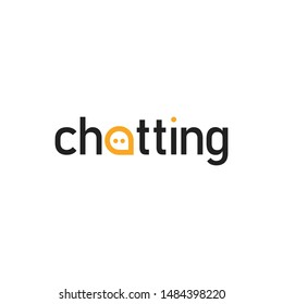Logo Chatting App Vector Template Design, Talk Logo, designed for chat applications