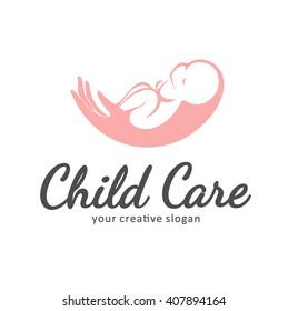 Logo of child care, motherhood and childbearing