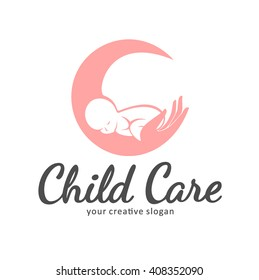 Logo of child care, motherhood and childbearing