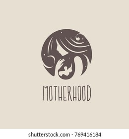 Logo of child care, motherhood and childbearing.