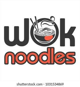 logo Chinese noodles wok