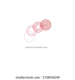 Logo coaching. Logo transforming, transformation isolated on white background. Symbol of coach. Development in business
