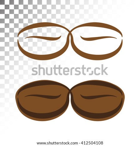 Logo Coffee Beans Graphic Design Printed Stock Vector Royalty Free