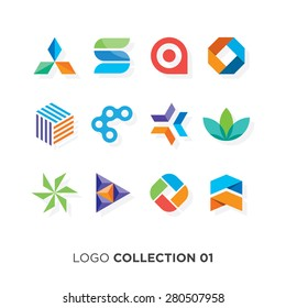 Logo collection 01. Vector graphic design elements for your company logo.