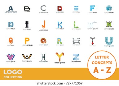 Logo collection. Letter concepts. Isolated vector icons. Set of symbol and sign for company logo designing