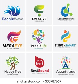 Logo collection for People creative template