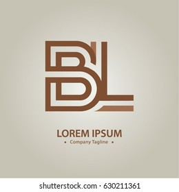 Logo combinations Letter B and L