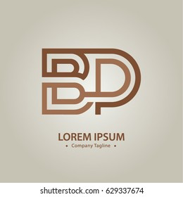 Logo combinations Letter B and P