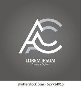 Logo combinations Letter A and C