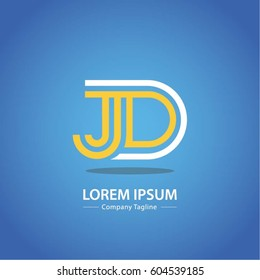 Logo combinations Letter J and D