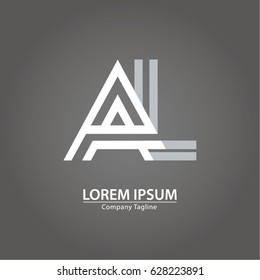 Logo combinations Letter A and L
