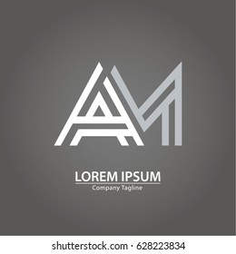Logo combinations Letter A and M