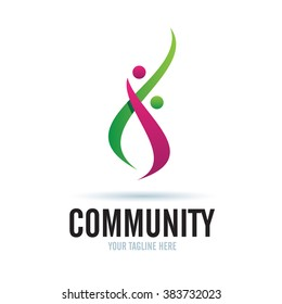 Logo Community Icon Element Template Design Logos