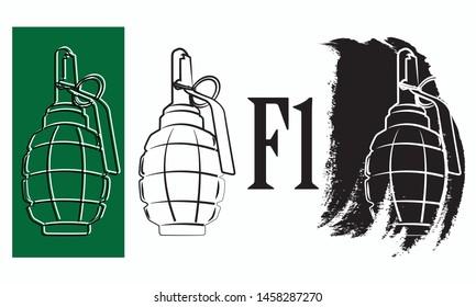 Grenade Logos Images, Stock Photos & Vectors   Shutterstock