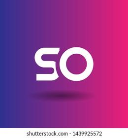 SO logo. SO company linked letter logo concept. Designed for your web site design, logo, app, UI.SO initial logo design