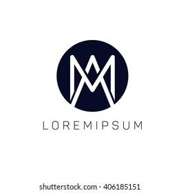 Am logo company sign vector design
