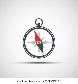 Logo of the compass arrow. Vector image.