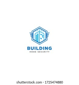 Logo concept. Building Home Security. Vector icon logo design style