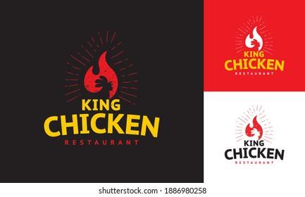 logo concept for roast chicken restaurant