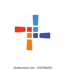 The logo consists of four command signs rotated 90 degrees. The amazing thing happened: A windmill was formed