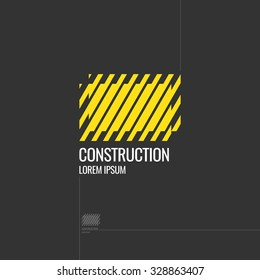 Logo. Construction. Elements for cards, illustration, poster and web design. Vector.