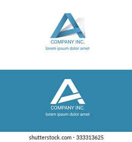 A logo corporate blue company design