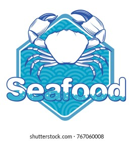 Logo crab and seafood