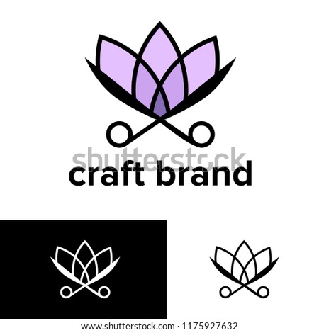 Logo Craft Brand Diy Giant Paper Stock Vector Royalty Free