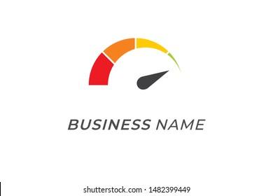 logo creative speedometer fast and speed