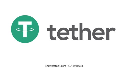 Logo of the Cryptocurrency tether. Electronic crypto currency. The windmill illustration