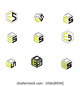 logo cube for company letter es