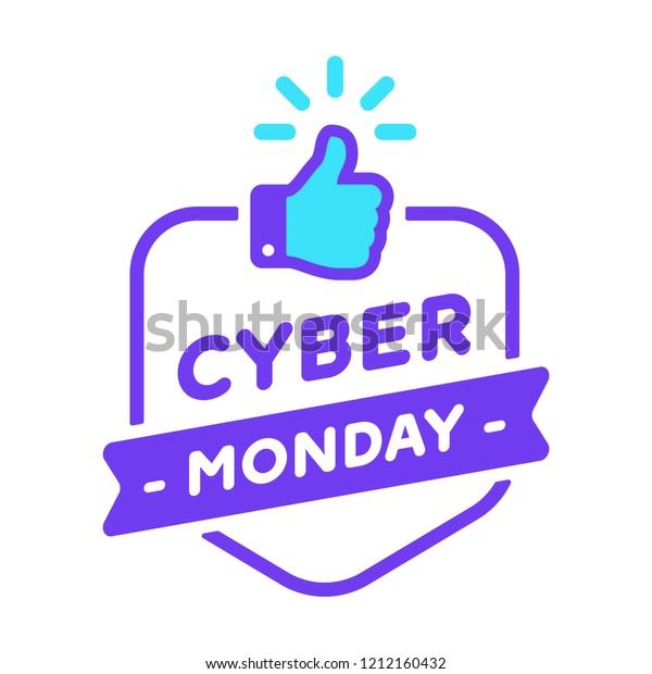 Logo Cyber Monday Offer Label Promotion Stock Vector Royalty Free 1212160432