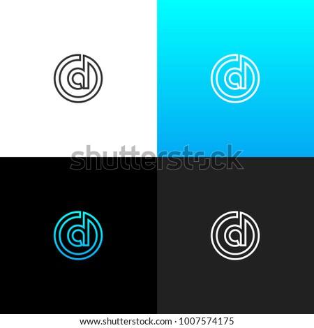 ed3e6749e5 Logo D Circle Linear Logo Letter Stock Vector (Royalty Free ...