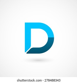 Logo D letter. Isolated on white background. Vector illustration, eps 10.