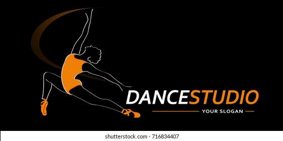 Logo Dance Studio symbol. Vector illustration