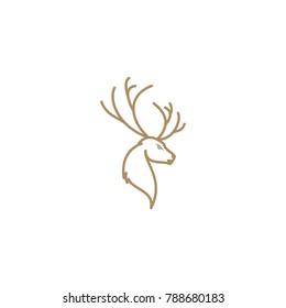logo deer abstract