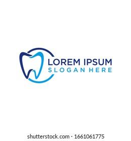 logo dental design vector modern graphic