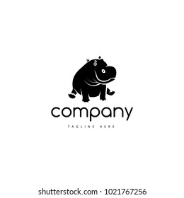 The logo depicts a baby hippo.