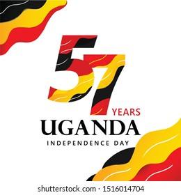 Logo design 57th the National Day Uganda ,happy independence day uganda
