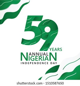 Logo design 59th the National Day of Nigeria,happy independence day Republic Federation of Nigeria